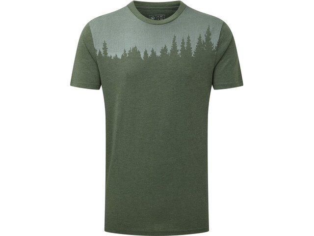 tentree Juniper Camiseta Manga Corta Hombre, forest green heather